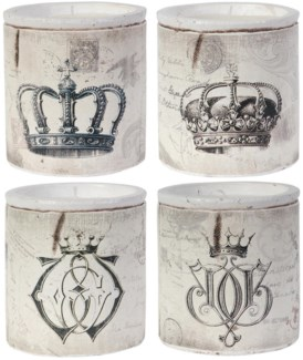 S/4 Crown Candles 4.5Dx4.7inch 42percent off original price $42