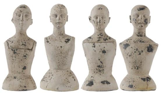 Torso and Head Mannequin 4 Asstd, Polyresin, 6.5x6x14inch ON SALE 25 percent off original price 25.5