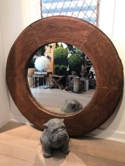 RM-34827 Vintage Mirror,Teak wood, Brown 53x3x53 inches