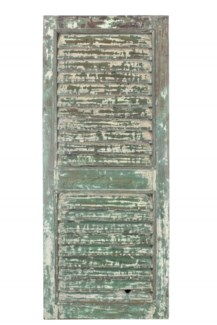 RS-40603 Vintage Shutter Panel,Teak wood, Green 26x2x67 inches