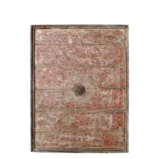 Antique Ceiling Panel, Hand Painted Teak wood, from an old Indian Mansion. 39x2x52 inches