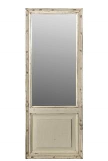 RM-34586 Vintage Mirror, Teak wood, Cream 24x2x76 inches