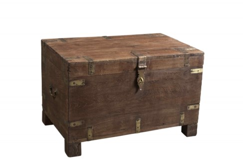 RM-34060 Vintage Chest,Teak wood, 29x18x19 inches