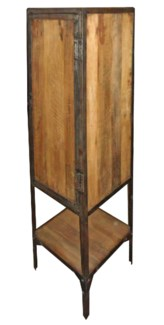 THC-1412 Vintage Replica Iron Cabinet w/Wood,Mango Wood, 20x16x60 inches ON SALE 25 percent off 59