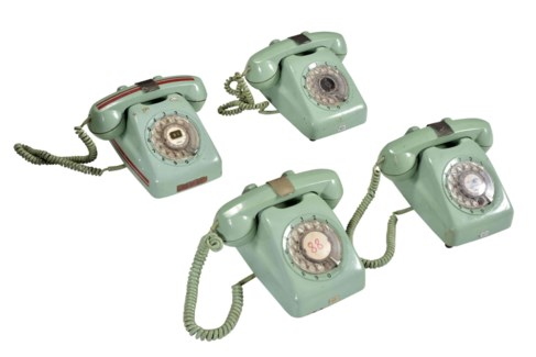 RM-32547 - Vintage Rotary Telephone Mint Green, 8.5x8x4.5 Inches