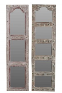 RM-35767 - Vintage Multipane Wood Mirror, Various, 18x2x71 inches