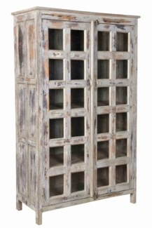 RS-39470 - Antique Wood Cabinet, Lg - 43.4x18.9x71.7 inches