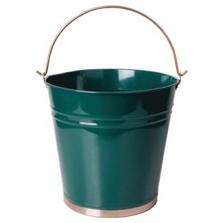 Bucket green. Metal. 33,5x27,7x29,0cm. oq/10,mc/10 Pg.93