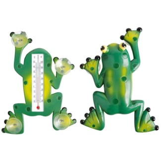 Frog thermometer. Plastic, kerosine. 17,6x3,5x23,8cm. oq/24,mc/72 Pg.97