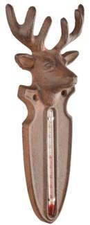 Thermometer deer. Cast iron, glass, kerosine. 9,4x4,5x22,0cm.