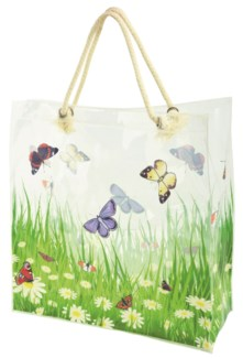 Shopping bag flower field - (15.3x5.9x15.7 inches)