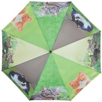 Umbrella cats, Polyester, metal, wood - 47.24x47.24x95