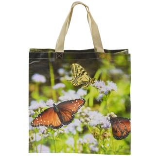 Shopping bag butterflies - 15.75x6x16 inches