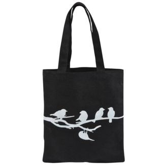 Shopping bag birds on tree - 12.25x0.5x14 inches