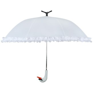 Umbrella swan - 39.5x39.5x31.75 inches