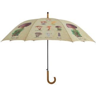 Umbrella collectibles mushrooms, Polyester, metal, wood - 47.24x47.24x95