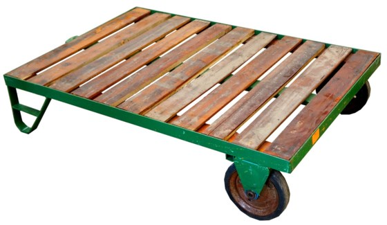 Pallet Carts Coffee Table Green/Blue. 48Lx37Wx11.5H