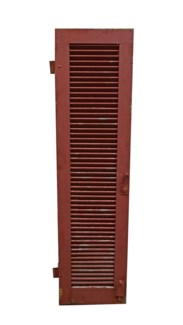Antique French Red Shutter, From France 1850