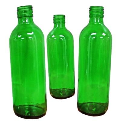 Antique Hungarian Mini Bottles, Green 9x2.5 in - Hungary, 1880