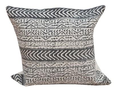 Annie Patterned Cushion, Blue & White,  20x20