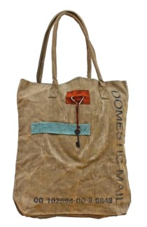 Mail Tote Handbag, Canvas