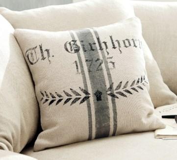 Cushion Grey Stripe 15.50x15.50