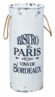 Bistrot Umbrella Stand, Wht , 24.5 x 11 x 11
