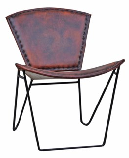 Leather Chair, Brown, 23x28x30 inches *Last Chance!*
