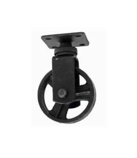 Cast Iron Wheel, Small - .75Wx2.5Rx3.75H inch