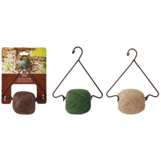 Hanging string dispenser. Cast iron, natural jute twine. 18,7x9,6x24,0cm. oq/6,mc/24