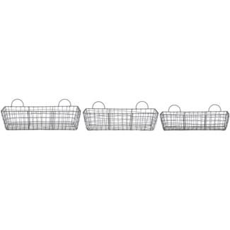 Wire basket long set/3 -  20.79x5.28x13.4
