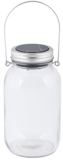 LED Solar light in jar - 4x4x7.25 inches