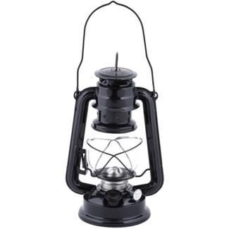 Hurricane lamp oil lantern black -  6.18x4.61x24.1