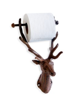 Reindeer Toilet Roll Holder, antique rust finish 6.1x5.8x12inch*Last Chance!!*