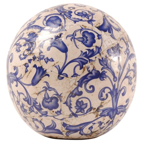 Aged ceramic ball in dia 12cm.