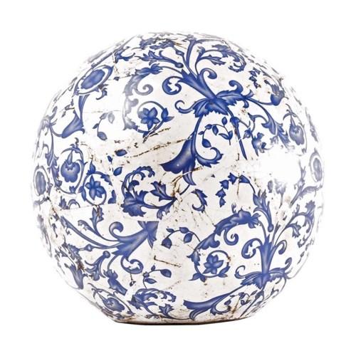 Aged ceramic ball in dia 18cm.