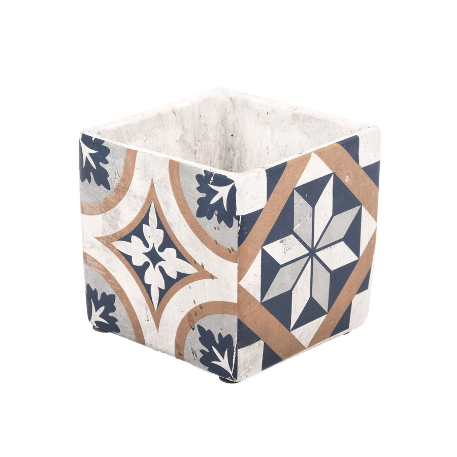 Portuguese Tiles Flower Pot L