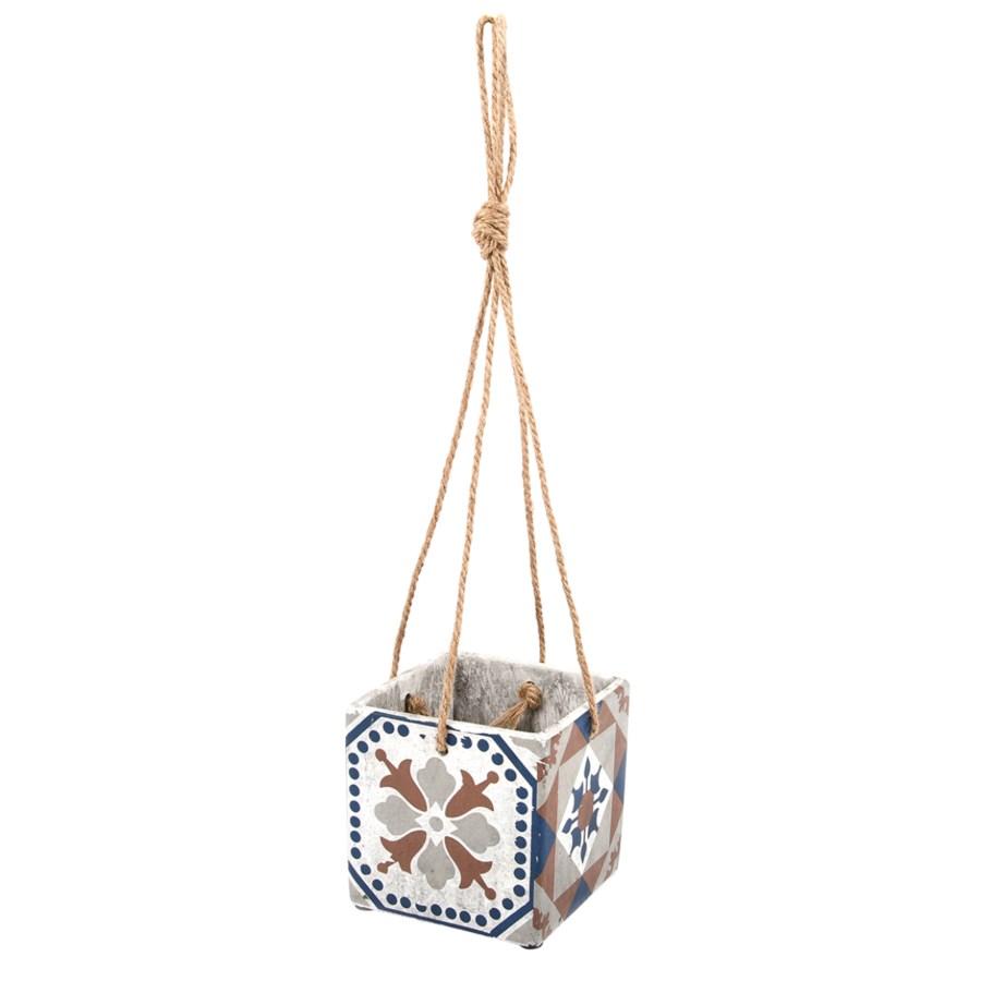 Portuguese Tiles Hanging Pot L