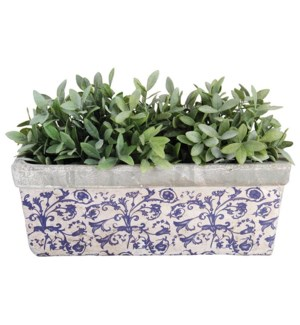 Aged ceramic balcony planter. Ceramics. 39,5x15,7x15,1cm. oq/4,mc/4 Pg.135