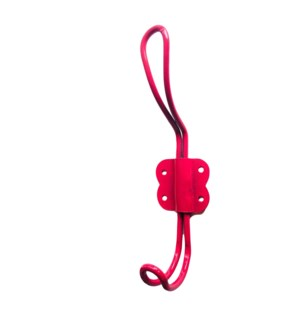 """Arran Iron Wire Hook, Pink"""