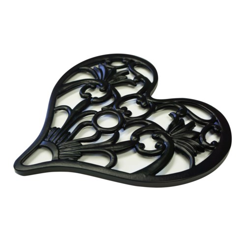 Heart Shape Trivet Black