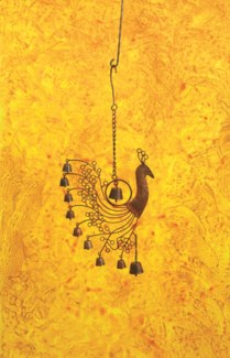 Peacock Wind Chime  - 8.25 x1.25 x17.5 inches - On Sale 50 percent off original price 28.8