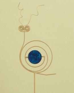 40 Blue Snail Garden Stake. 8x40