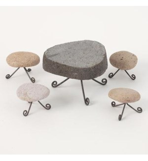 Miniature Stone Table & Stoo O