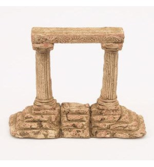 Miniature Clay Ruins Corner Step Column, 7 x 2.5 x 6.5inch. FD 6.30 - On Sale 50 percent off origi