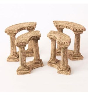 Miniature Clay Ruins Quarter Circle Column, 5 x 2 x 5.75inch. FD 6.30 - On Sale 50 percent off ori
