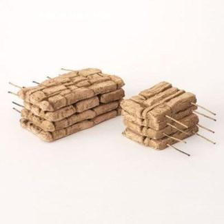 Miniature Clay Ruins Walls, 5 x .5 x 2.5/3 x .5 x 2.5inch. FD 6.30 - On Sale 50 percent off origin