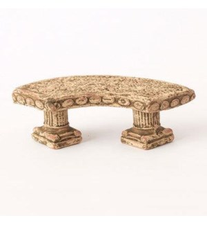 Miniature Clay Ruins Curved Bench, 5 x 1.5 x 2inch. FD 6.30 - On Sale 50 percent off original pric