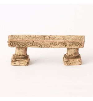 Miniature Clay Ruins Straight Bench, 4 x 1 x 2inch. FD 6.30 - On Sale 50 percent off original pric