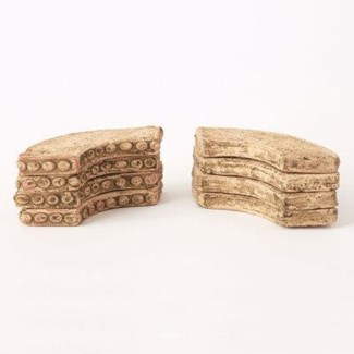 Miniature Clay Ruins Curved Quarter Bases and Lintels, 5 x 1.5 x .5inch. FD 6.30 - On Sale 50 perc